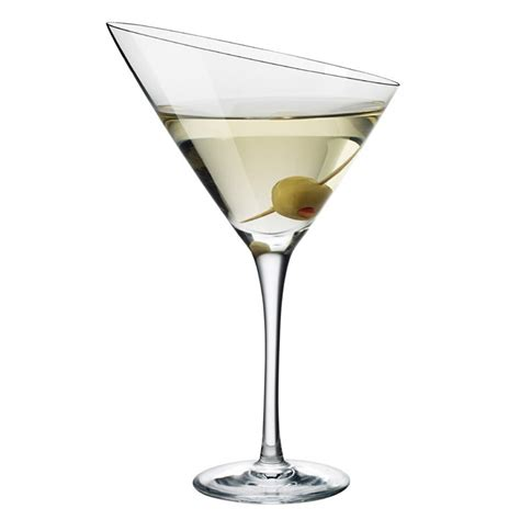 Eva Trio Angled Martini Glass The Green Head