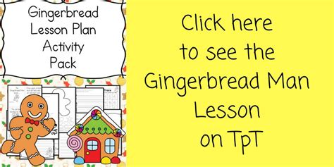 gingerbread cutout template and lesson plan 742 | gingerbread man lesson