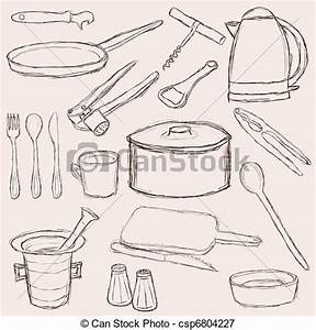 Kitchen Equipment - Royalty Free EPS Clip Art - csp6804227