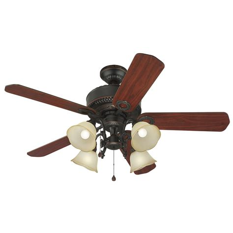ceiling fan without light kit shop harbor breeze edenton 52 in aged bronze downrod or