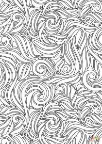 Swirl Pattern Coloring Pages