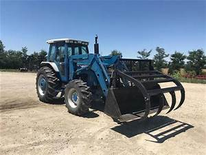1991 Ford 7710 Mfwa Tractor W  Gb 770 Front End Loader