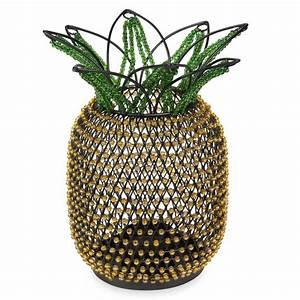 Ananas Maison Du Monde : bougeoir en m tal et perles jaunes et vertes ananas maisons du monde ~ Teatrodelosmanantiales.com Idées de Décoration