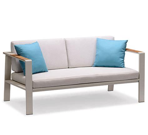 canapé de jardin aluminium canapé de jardin beige aluminium et teck nofi 429 salon