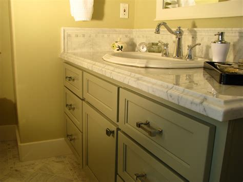 Craftsman Style Bathroom Vanity Tile Backsplash The