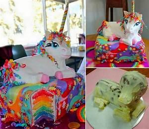 Wonderful DIY Rainbow Unicorn Cake