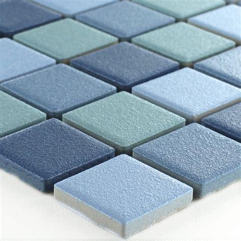 Keramik Mosaik Fliesen Rutschhemmend Blau Mix Tm33184m
