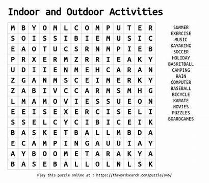 Word Activities Outdoor Indoor Puzzle Play Another