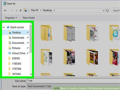 create  simple css stylesheet  notepad
