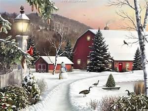Thomas Kinkade Winter Wallpapers