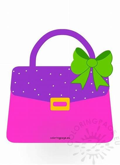 Handbag Purse Clip Clipart Eu Coloring