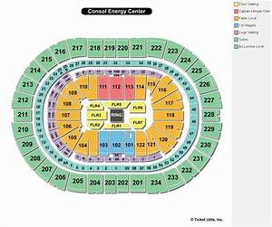 Consol Energy Center Seating Chart Consol Energy Center Pittsburgh Pa Seating Chart View