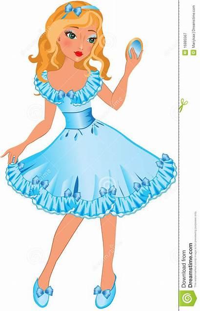 Clipart Pretty Mirror Lady Princess Cartoon Bambina