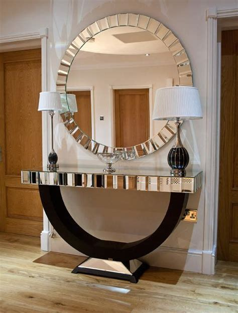 Black Console Table and Mirror