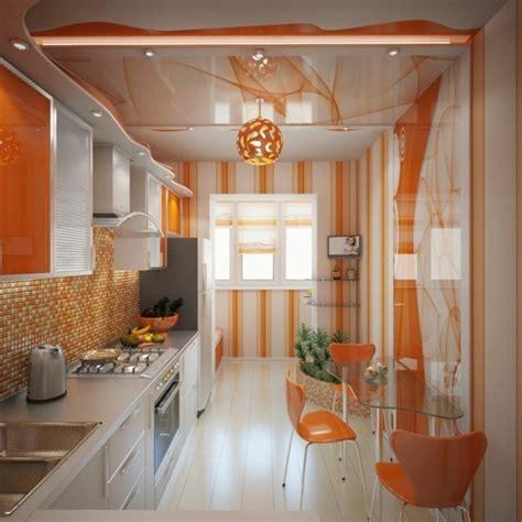 Einrichtung Kleiner Kuechemoderne Kleine Kueche In Orange by Eine Ansprechende K 252 Chengestaltung Mit Einem Orangen Touch