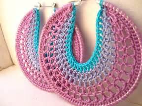 Free Pattern Crochet Hoop Earrings
