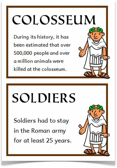 Romans Roman Ancient Cards Fact History Facts