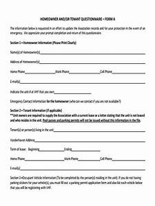 Questionnaire Survey Template Free 9 Sample Tenant Questionnaire Forms In Ms Word Pdf