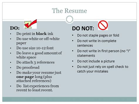 resumes ppt