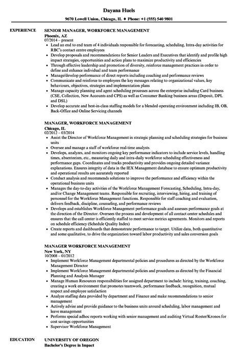 manager workforce management resume samples velvet jobs