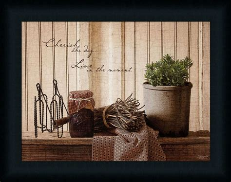 Primitive Kitchen Wall Decor by Cherish The Day Primitive Country Kitchen Sign Framed