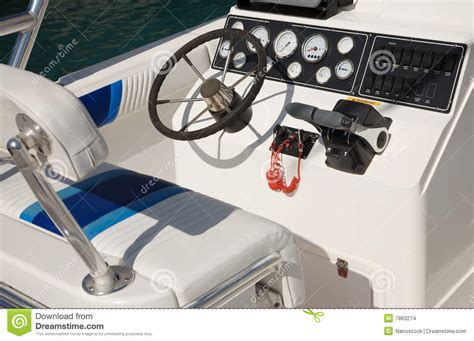 Boat Control Panel by Motor Boat Control Panel Stock Images Image 7863274