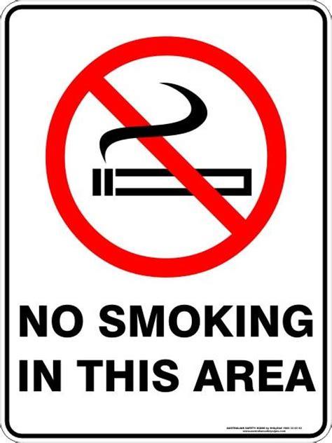smoking   area australian safety signs