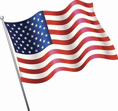Flag Vector Usa Waving American Illustrations Clip