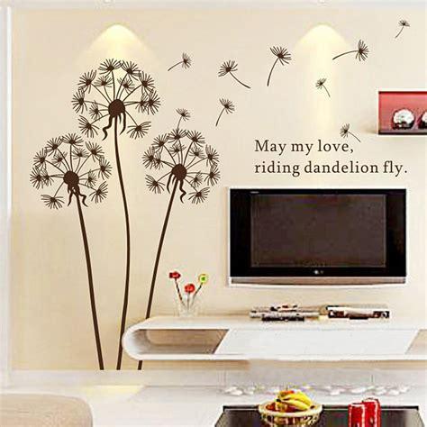 aliexpress buy 2015 sale dandelion wall sticker wall paper home decor removable