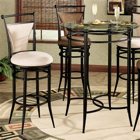 bistro table and 4 chairs 4 person black polished legs bistro table using round