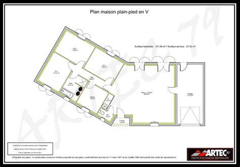 plan de maison plain pied 3 chambres avec garage plans de maisons constructeur deux sèvres