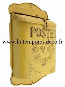 Boite Aux Lettres Vintage : boite aux lettres jaune antique postes achetez sur lintemporel ~ Teatrodelosmanantiales.com Idées de Décoration