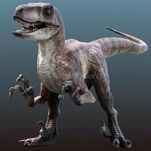 Velociraptor (Blender 3D, Substance Painter) : JurassicPark  Velociraptor