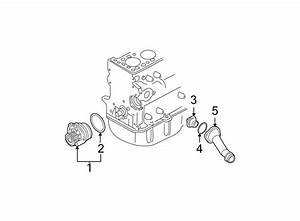 Volkswagen Beetle Engine Coolant Thermostat Housing  Liter