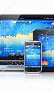 Financial management on mobile devices - Stock Photo , # ...