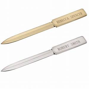 personalized plated letter opener home office With personalized letter opener