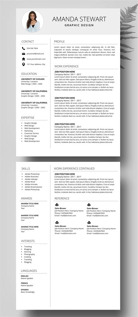 Resume Writing Templates Word by Resume Template Cv Template Professional Resume