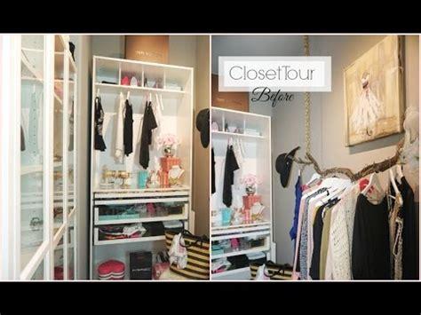 closet tour before closet organization ideas walk in