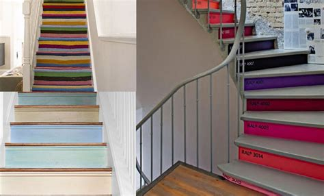 davaus net couleur peinture escalier bois avec des