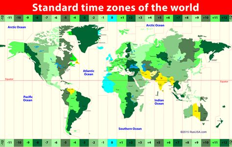 time zones map time usa