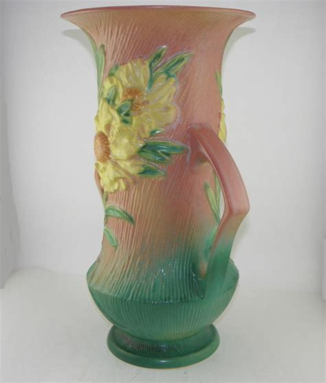 Bargain John's Antiques   Peony Roseville Pottery Double