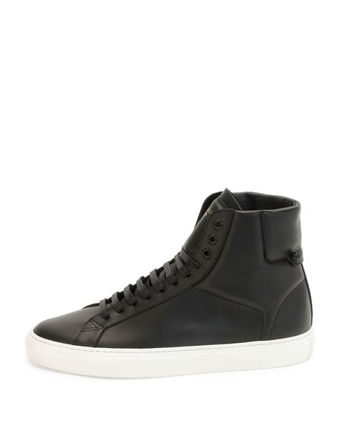 lyst givenchy urban street high top sneakers  black