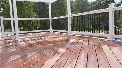 capped composite decking maryland deck builders the deck fence company