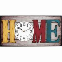 rectangular wall clocks Big Rectangle Wall Clock Home Decoration Home Letters Time ...