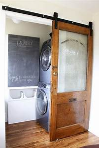 doors become spectacular with barn door hardware homejelly With barn door for laundry closet