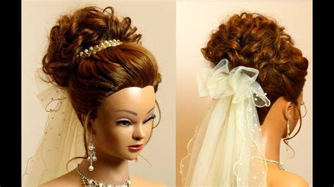 Wedding For Medium Hair : Bridal Hairstyle For Long Medium Hair Tutorial. Romantic