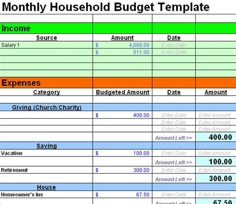 free finance spreadsheet family budget templates calendar template 2016