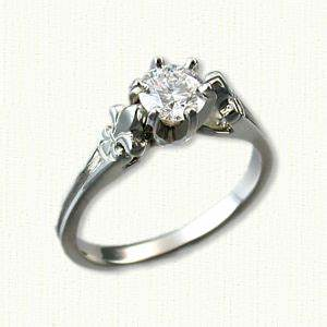 fleur de lis engagagement ring two tone custom With fleur de lis wedding rings