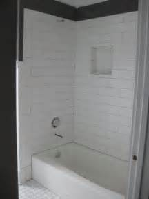 shower tub subway surround in white 4x12 for the home