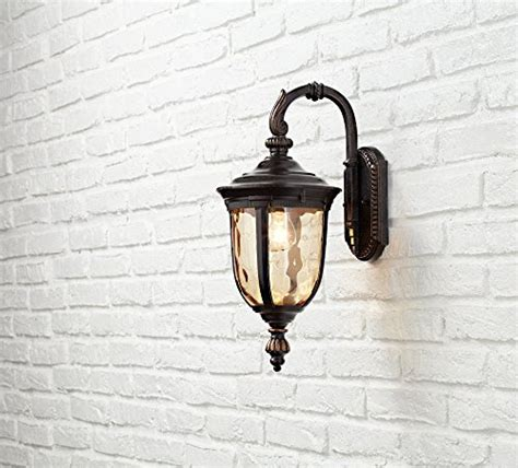 bellagio 16 1 2 quot high downbridge outdoor wall light in the